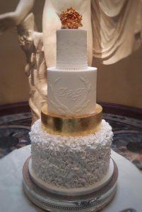 Gold Luxury Wedding Cakes Hertfordshire, Bedfordshire, Buckinghamshire, London