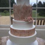 Rose gold Luxury Wedding Cakes Hertfordshire, Bedfordshire, Buckinghamshire, London