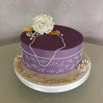 Purple Female Birthday Cakes Bedfordshire, Hertfordshire, London and Buckinghamshire