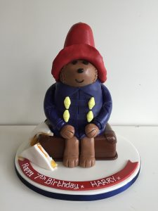 Bear sculpted birthday cakes Hertfordshire, London, Bedfordshire, Buckinghamshire