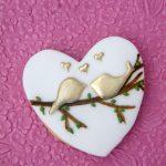 Birds Wedding Cookies by La Belle Cake Company - Bedfordshire, Hertfordshire