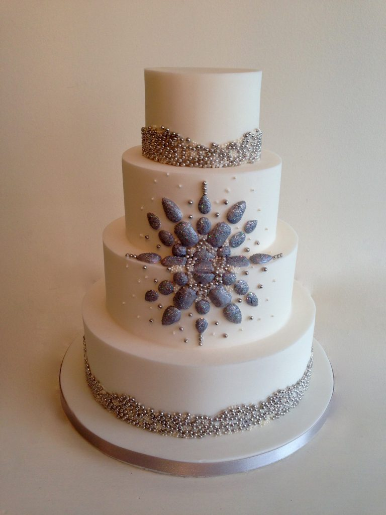 Luxury Winter Wedding Cake Inspiration