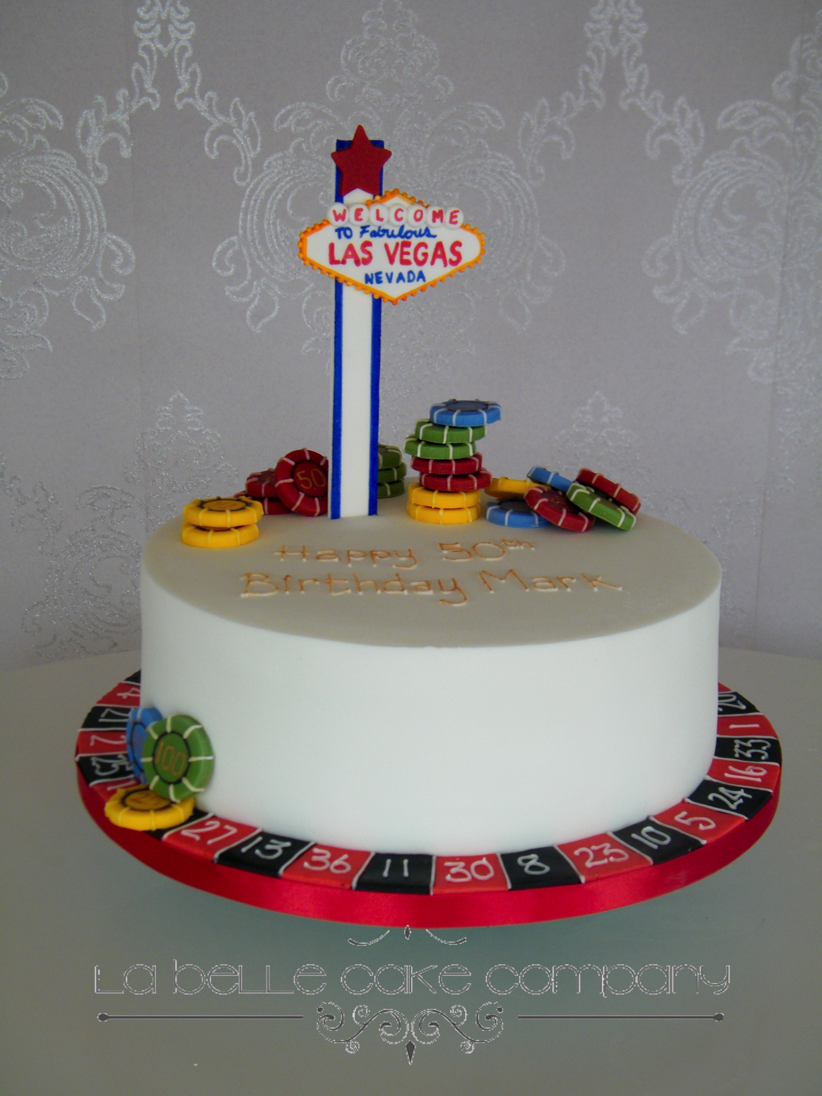 One Tier Las Vegas Themed Female Birthday Cakes Bedfordshire Hertfordshire London And Buckinghamshire
