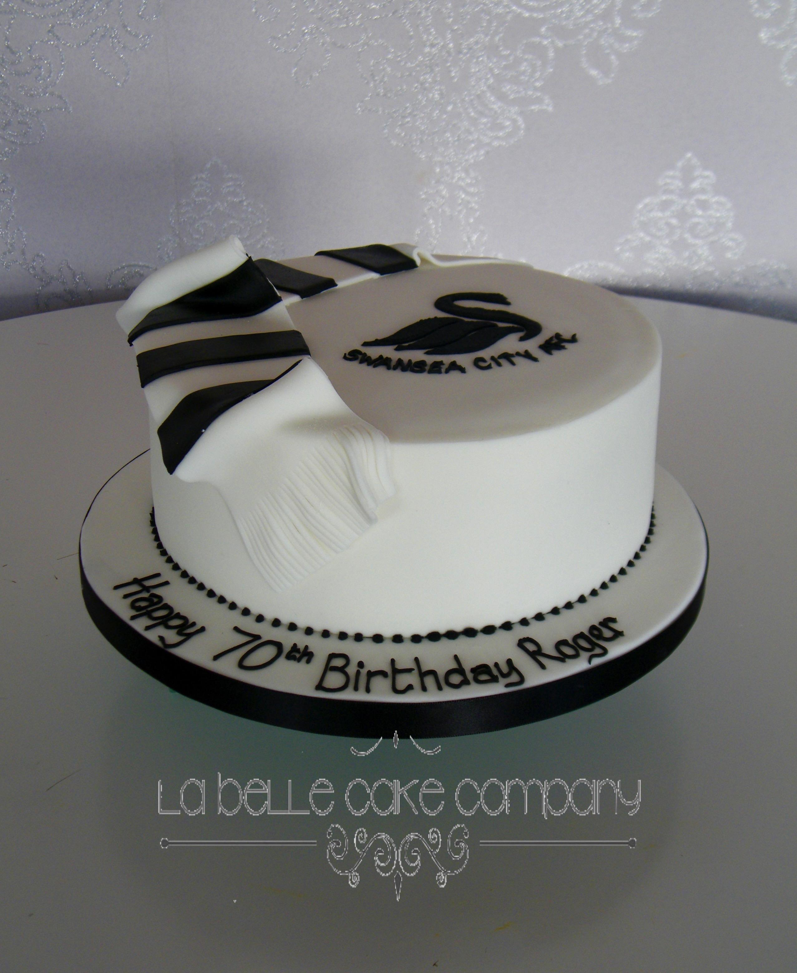 Football Supporter Swansea City Male Birthday Cakes Hertfordshire Bedfordshire Buckinghamshire London