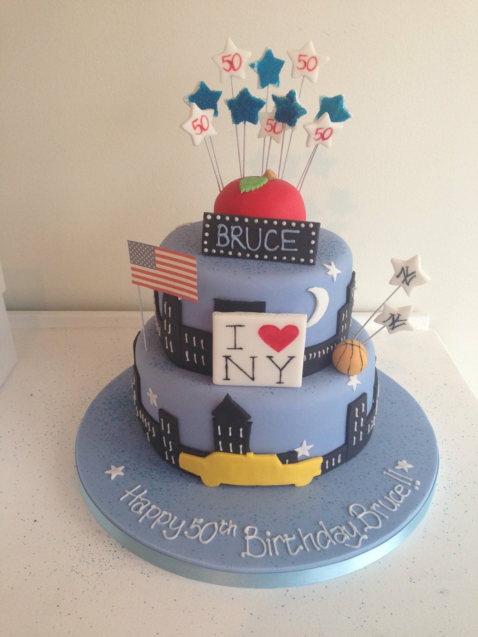 New York Themed Birthday CVake Big Apple Yellow Taxi I Heart NY Formula One Cake Male