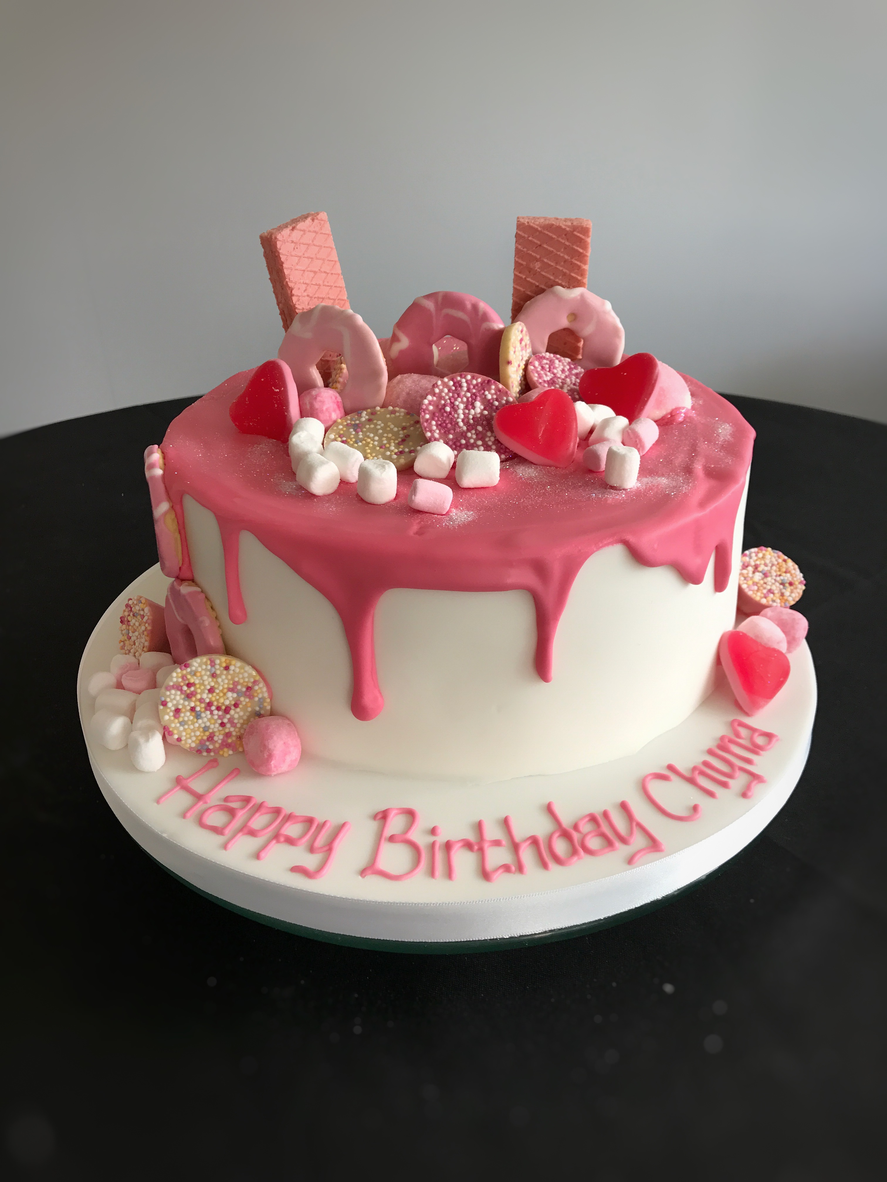 Biscuits And Treats Female Birthday Drip Cakes Bedfordshire Hertfordshire London Buckinghamshire