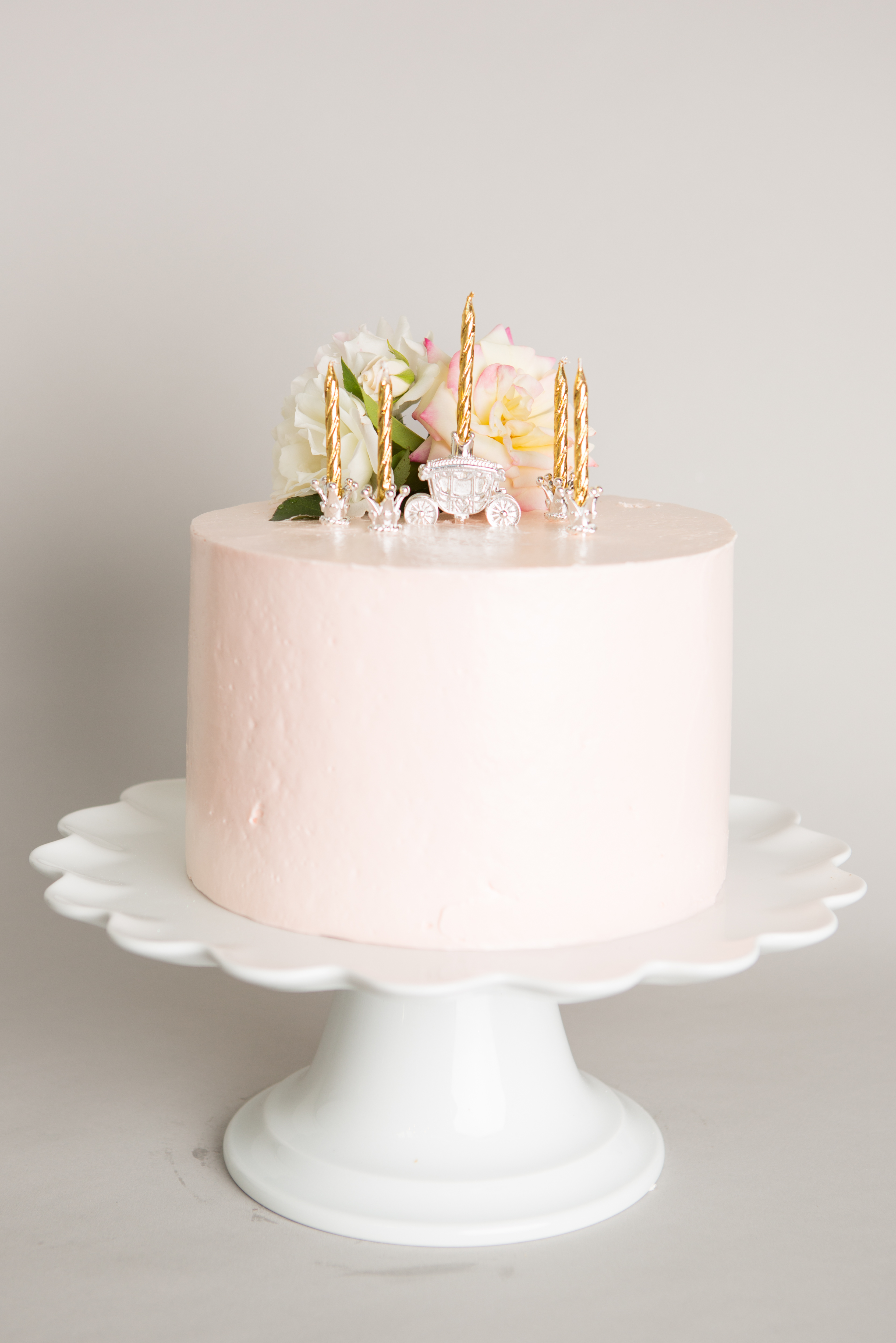 5 Silver Plated Princess Cake Candleholders