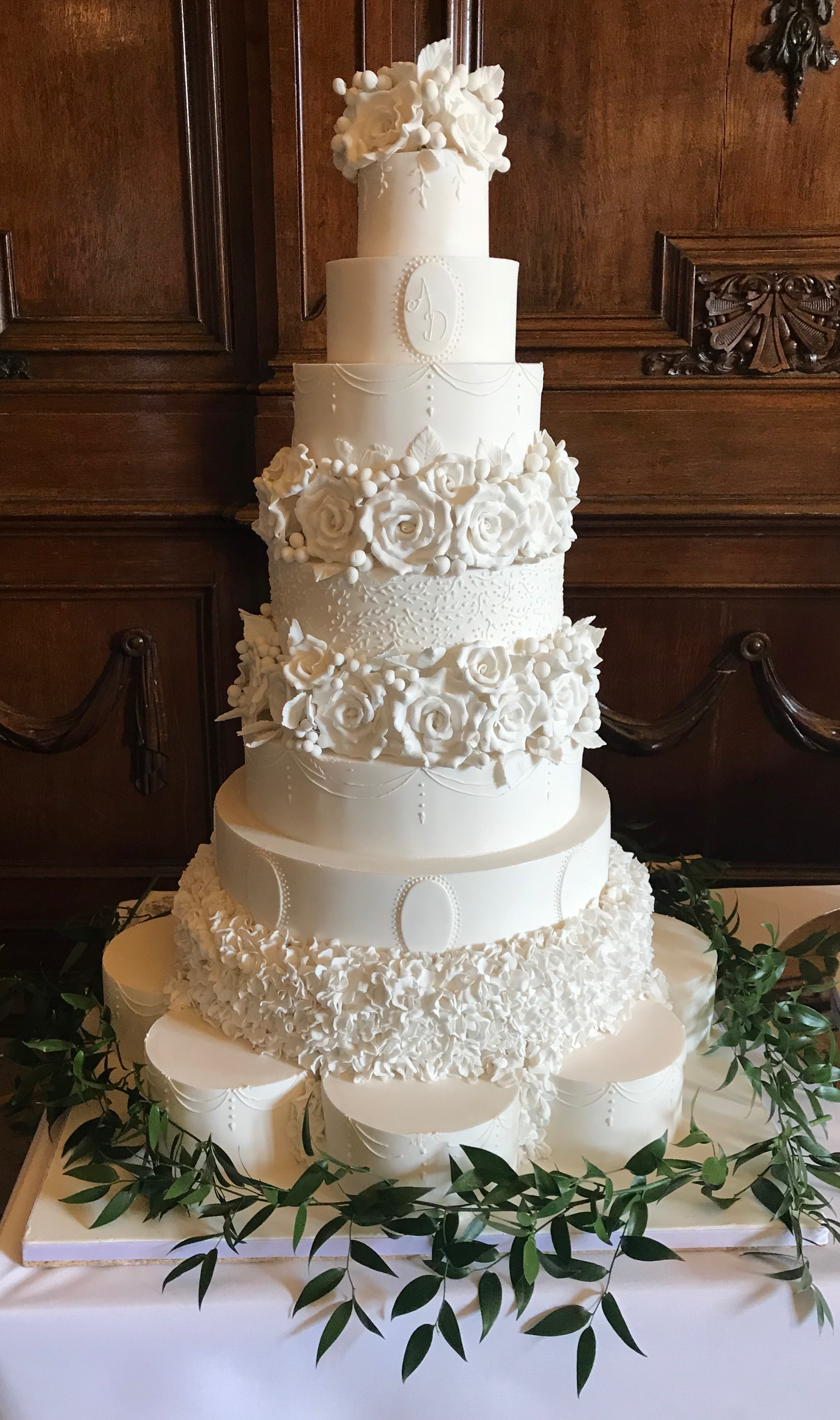 White Wedding Cake Designs La Belle Cake Company